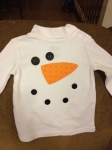 Snowman shirt for Zach